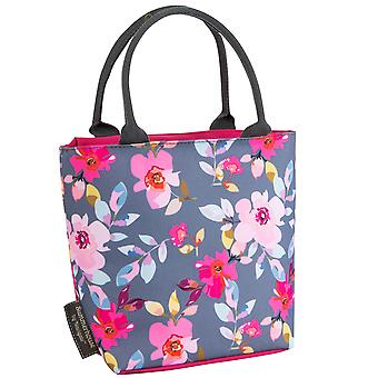 Navigate Gardenia Lunch Tote, Grey Floral