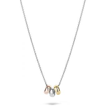 Blush 30559WYR necklace - White gold 42cm/ three Rings white and yellow gold 6/3 mm Women