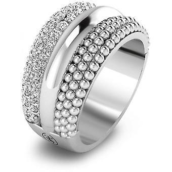 Ti Sento 12114ZI Ring - Women's Multi-Rangs Zirconium Silver Ring