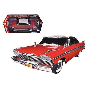 1958 Plymouth Fury \Christine\ Night Time Version 1/18 Diecast Model Car by Autoworld