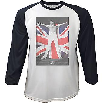 Freddie Mercury Queen Union Jack À manches longues T-Shirt officiel