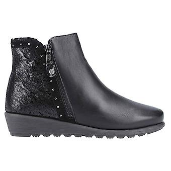 Hush Welpen Damen/Damen Betty Zip Up Leder Knöchel Boot