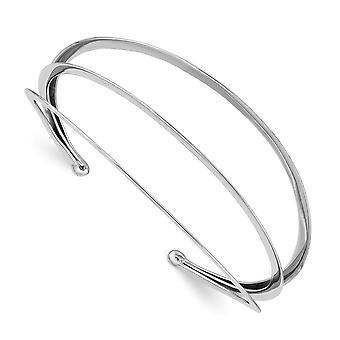 925 Sterling Silver Rhodium plaqué 3 bar Cuff Stackable Bangle Bracelet Bijoux Cadeaux pour les femmes