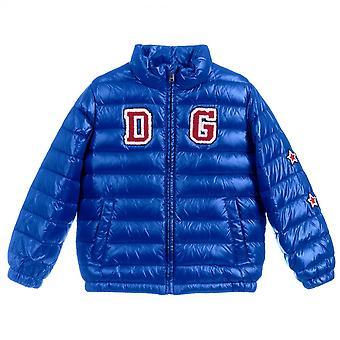 Dolce & Gabbana Kids Logo Puffer Jacket