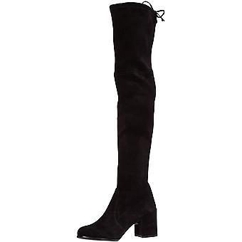 Stuart Weitzman Womens TIELAND Suede Almond Toe Over Knee Fashion Boots