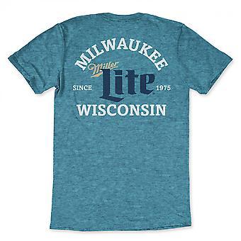 Miller Lite Milwaukee Wisconsin sininen T-paita