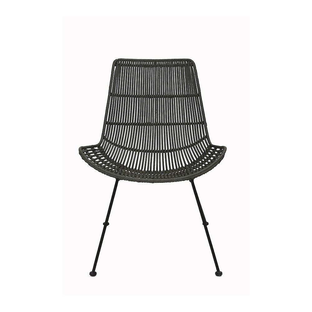 Chaise légère et vivante 67.5x61x79cm Bareng Rattan Olive Green