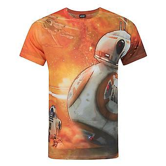 Star Wars Force Awakens BB-8 Sublimation Men's T-Shirt