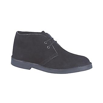 Roamers Black Real Suede Desert Boot Unlined Tpr Sole