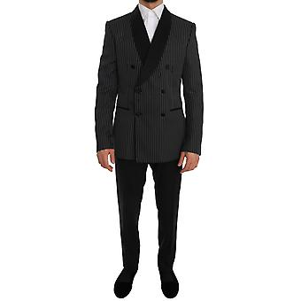 Dolce & Gabbana Musta Kaksinkertainen rinnakkaisryhmitelmällä Slim Fit Martini