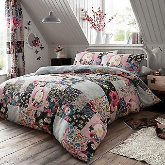 Ellis Floral Patchwork Duvet Cover Set
