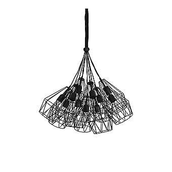Könnyű és élő függő lámpa 20x33cm Kobaka Matted Fekete