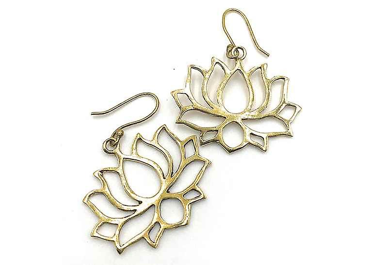 Avery and May Handmade Lotus Filigree Earrings for Women