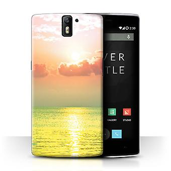 STUFF4 Case/Cover for OnePlus One/Sea/Sunset/Vivid Ombre