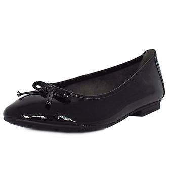 Soft Line Assistance Casual Wide Fit Ballet Pumps In Black Patent