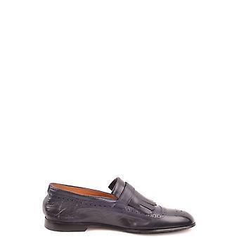 Doucal's Ezbc089039 Men's Black Leather Loafers