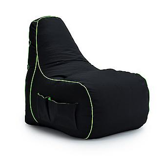 Game Over Fel Magic Video Gaming Bean Bag Chair | Sala de Estar Interior | Bolsos laterais para controladores | Suporte para fones de ouvido | Design ergonômico para o Gamer Dedicado