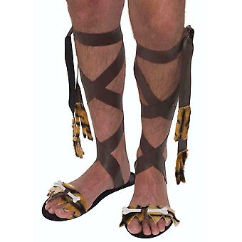 Caveman Cave Prehistoric Tarzan Stone Age Mens Costume Shoes Sandals