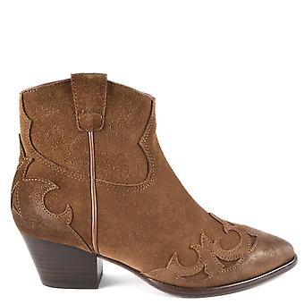 Ash HARLOW Boots Brushed Russet Suede