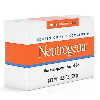 Neutrogena transparent facial bar, acne-prone skin formula soap, 3.5 oz