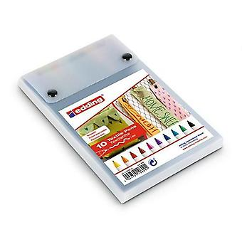 edding-4600 ass. textile pen 10PC 1 mm / 4-4600-10