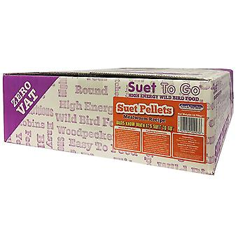 12.75kg suet to go high-energy mealworm suet pellets
