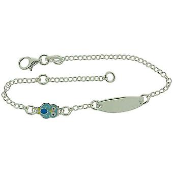 TOC Mädchen Sterling Silber blaue Eule Charm Armband 6 + 1