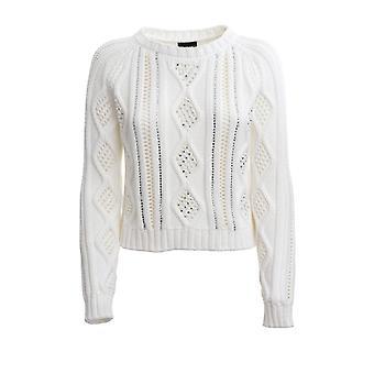 Ermanno Scervino Mg06sac10 Women's White Cotton Sweater