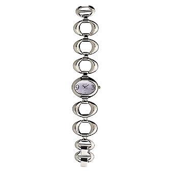 Eton Oval Link Bracelet Watch, Lilac Dial - 3109L-LC