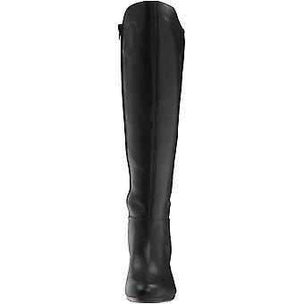 Anne Klein Womens Sylvie Leather Round Toe Knee High Fashion Boots