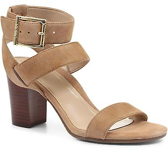 Vionic Womens Sofia Suede Heeled Sandals