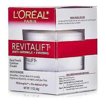 L ' Oreal elvyttäminen ryppyjä + kiinteyttävä kasvojen/kaulan ääri viivat kerma-48g/1.7 oz