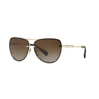 Bvlgari BV6113KB 2041T5 Pale Plated/Polarised Brown Zonnebrillen