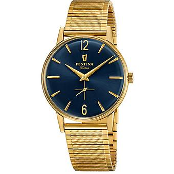 Extra Feast Quartz Analog Man Watch with F20251/4 Gold Plated Stainless Steel Bracelet