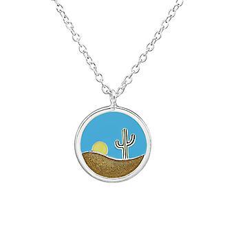 Deserts - 925 Sterling Silver Plain Necklaces - W37890x