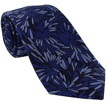 Michelsons Lontoon Splash Floral Silk tie-sininen