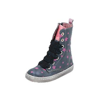Shoesme URBAN Kids Girls Boots Blue Lace-Up Boots Winter