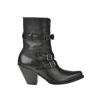 Céline Ezgl076046 Women's Black Leather Ankle Boots