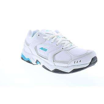 Avia Avi-Tangent  Womens White Leather Low Top Athletic Running Shoes