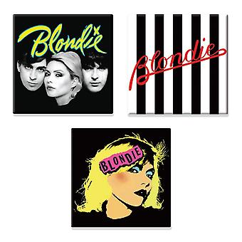Blondie 3 x Fridge Magnet band logo new official Gift set