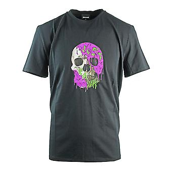 Just Cavalli Painted Skull Musta T-paita