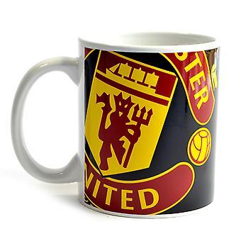 Manchester United FC Half Tone Ceramic Drink Coffee Football Mug Cup Red/Black