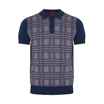 Merc merc Men Tartan Pattern Knitted Polo Derek