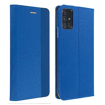 Protective Cover Samsung Galaxy A51 Card holder Interior Soft-touch blue