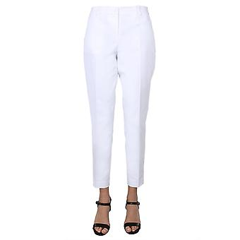 Michael Por Michael Kors Mh53f54c64100 Women's White Cotton Pants