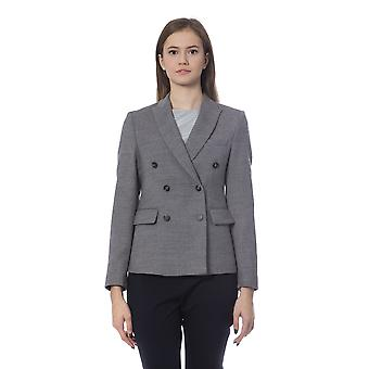 Peserico Double Breasted Grey Blazer