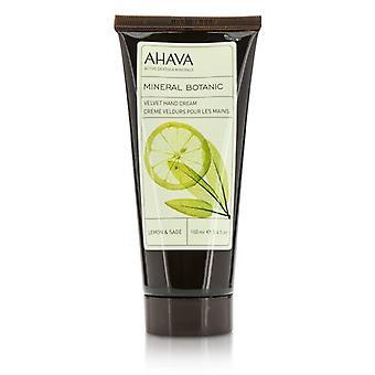 Ahava Mineral Botanic Velvet Hand Cream - Lemon & Sage 100ml/3.4oz