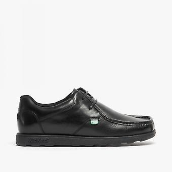 Kickers Fragma15 Lace Mens Leather Shoes Black