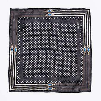 Eton - Polka Dot Pocket Square - Navy