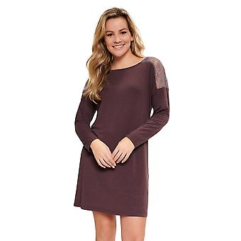 LingaDore 5603-269 Women's Fudge Brown Lace Details Nightdress